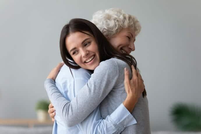 carinho com os pais idosos