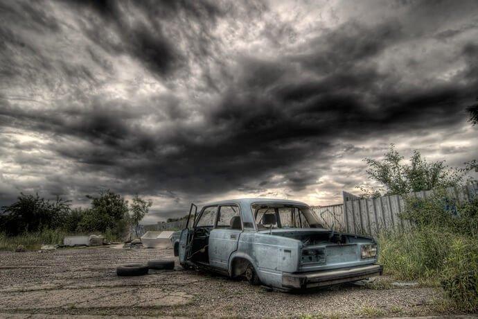pegar um carro abandonado